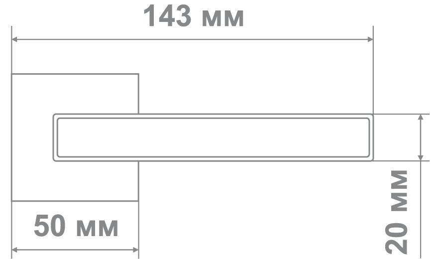 Ручка Медио ML6096-15 CP хром (20 шт)