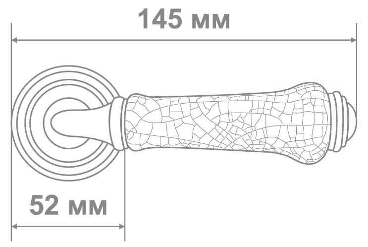 Ручка Аделли 6308-22 CP/WHITE хром/белая керам. (10)