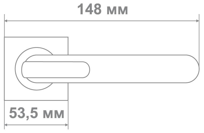 Ручка Медио L09-463 CP/BN хром/черный (20 шт)