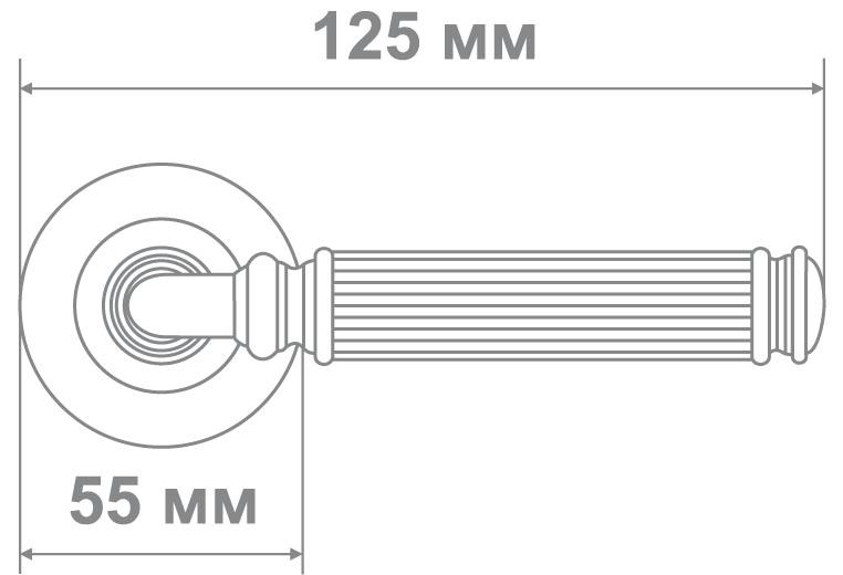 Ручка Локер 55611 MCF кофе мат. (20 шт.)