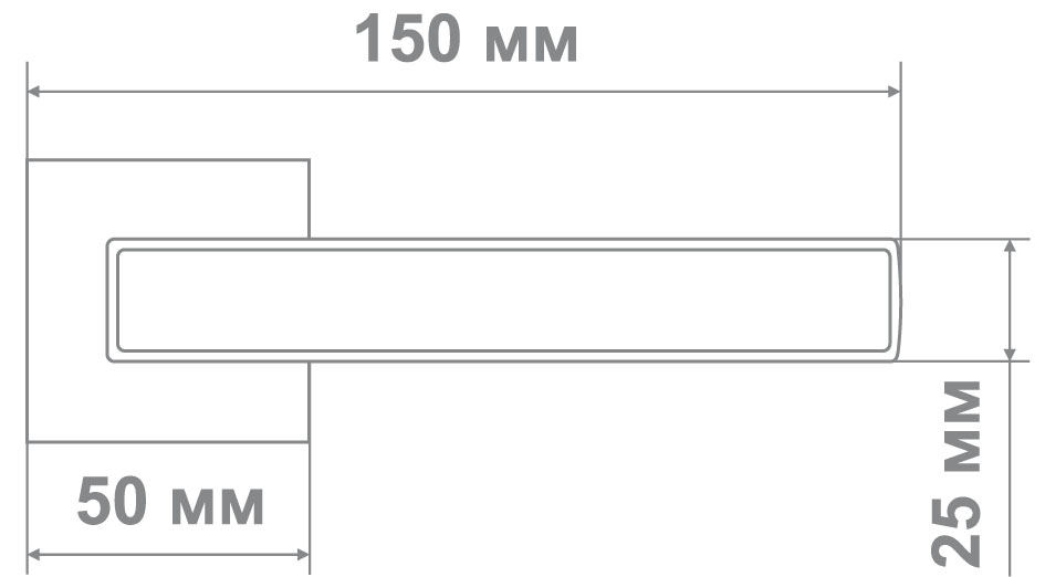 Ручка Медио ML5696-15 SN никель (20 шт)