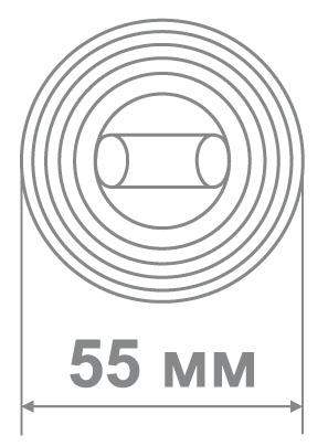Медио накладка L72 BAT MCF кофе мат. (50 шт)