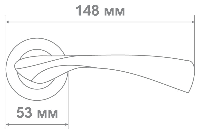Ручка Медио 264 BSN/CP мат.никель/хром (20 шт)