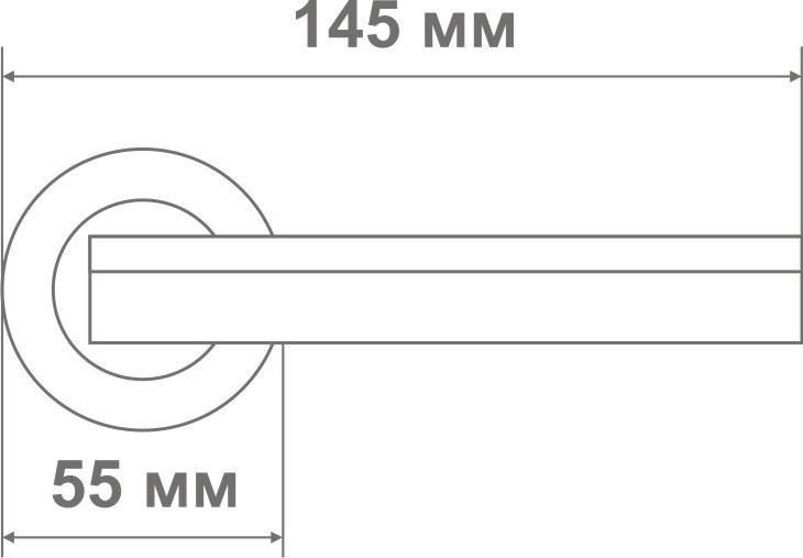 Ручка Локер 55057 CPB хром/черный (20 шт)
