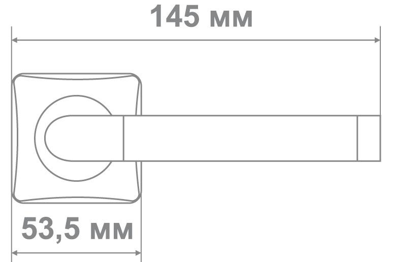 Ручка Медио L36-164 CP/SILVER хром/серебро (20 шт)