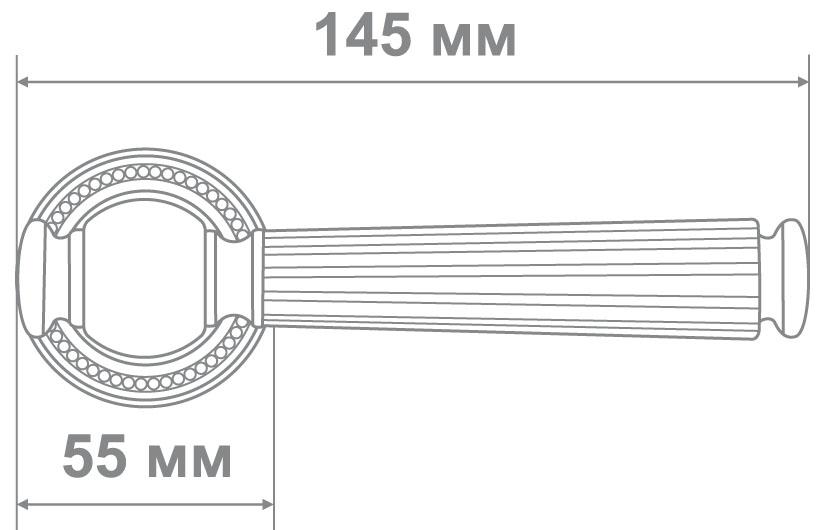 Ручка Alemar A8159-25 CAD кофе мат (10 шт)