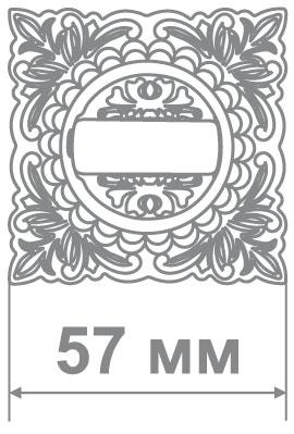 Медио накладка L26 BAT-K BCF кофе глянец (100/50 шт)