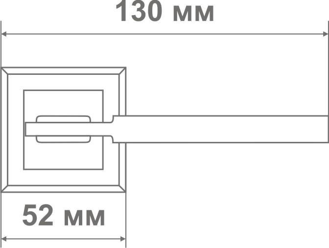 Ручка Локер 52076 SB/GP мат.золото/золото (20 шт.)