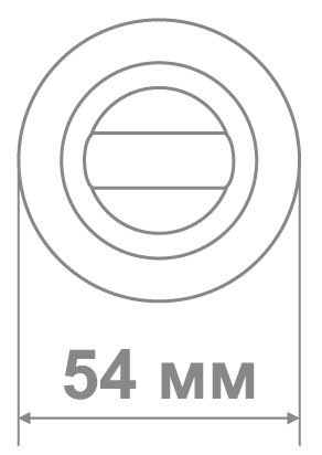 Накладка Локер BAT 55 SN/CP никель/хром (100 шт)