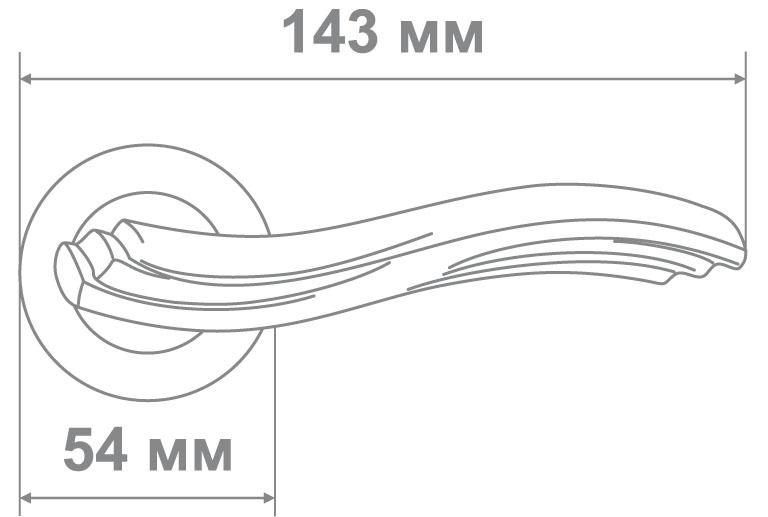 Ручка Локер ZY50-L313 SN/CP никель/хром (20 шт.)