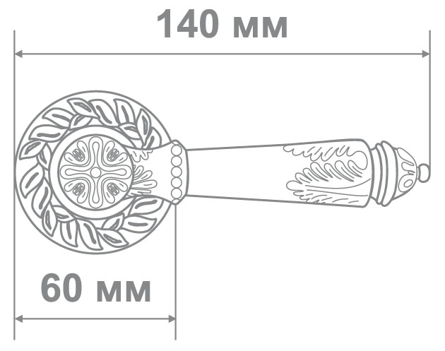 Ручка Аделли 6989-65 MCF кофе мат. (10 шт)