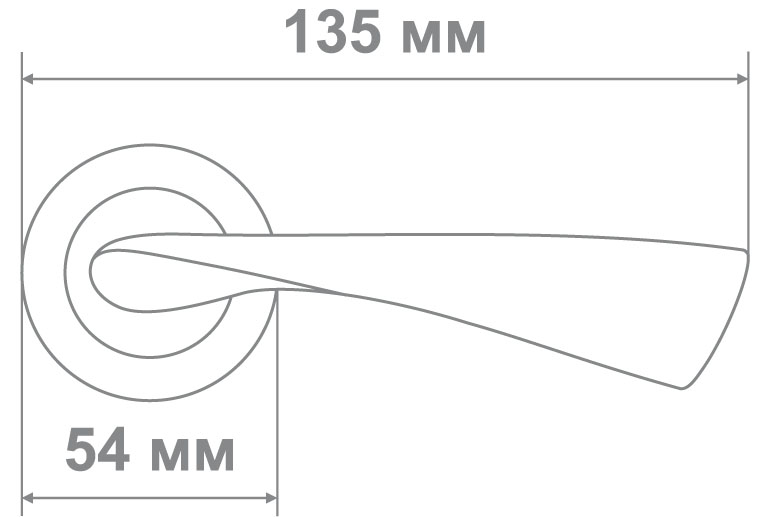 Ручка Локер ZY50-L240 AC медь (20 шт.)