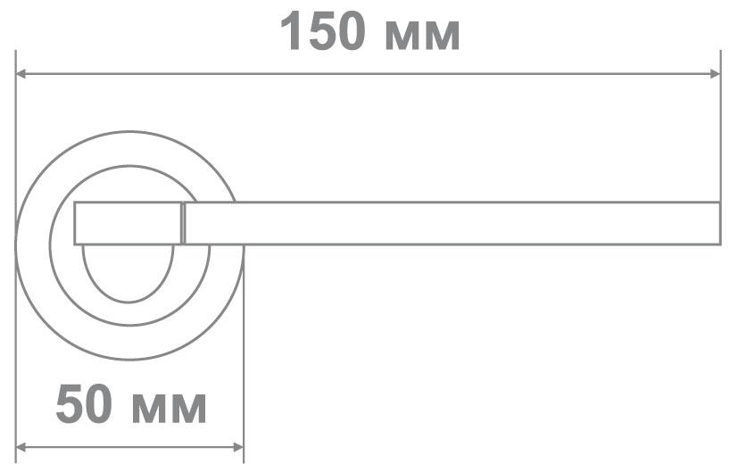Ручка Локер 53209 SN/CP никель/хром (20 шт.)