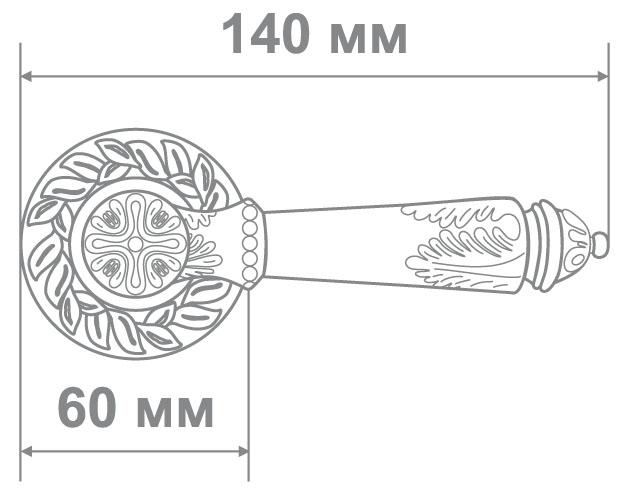 Ручка Аделли 6989-65 BRED антич. золото (10 шт)